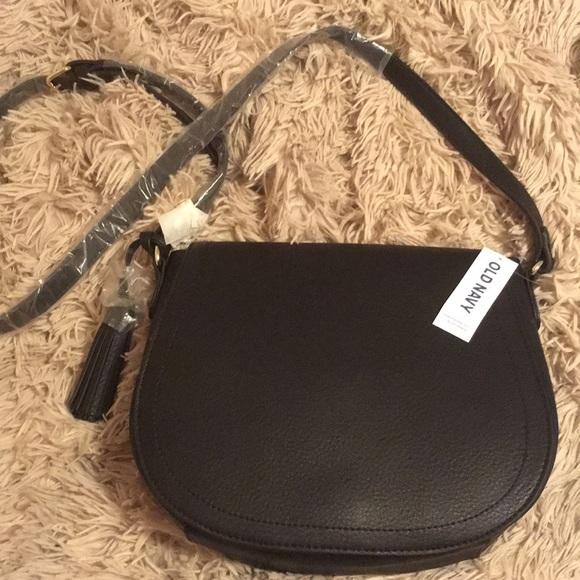 Old Navy Faux Leather Tassel Saddle Crossbody Bag 4ffe222f15115